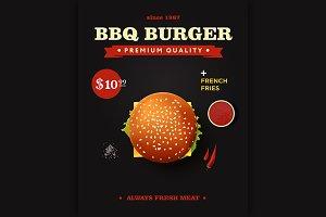 cheeseburger poster design