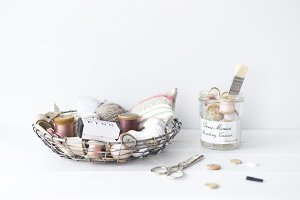 Styled stock photo - Sewing supplies