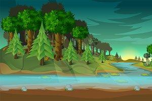 Forest Game Landscape