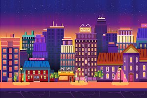 Night City Game Background Panorama