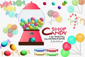 Candy Shop - Sweets Cliparts