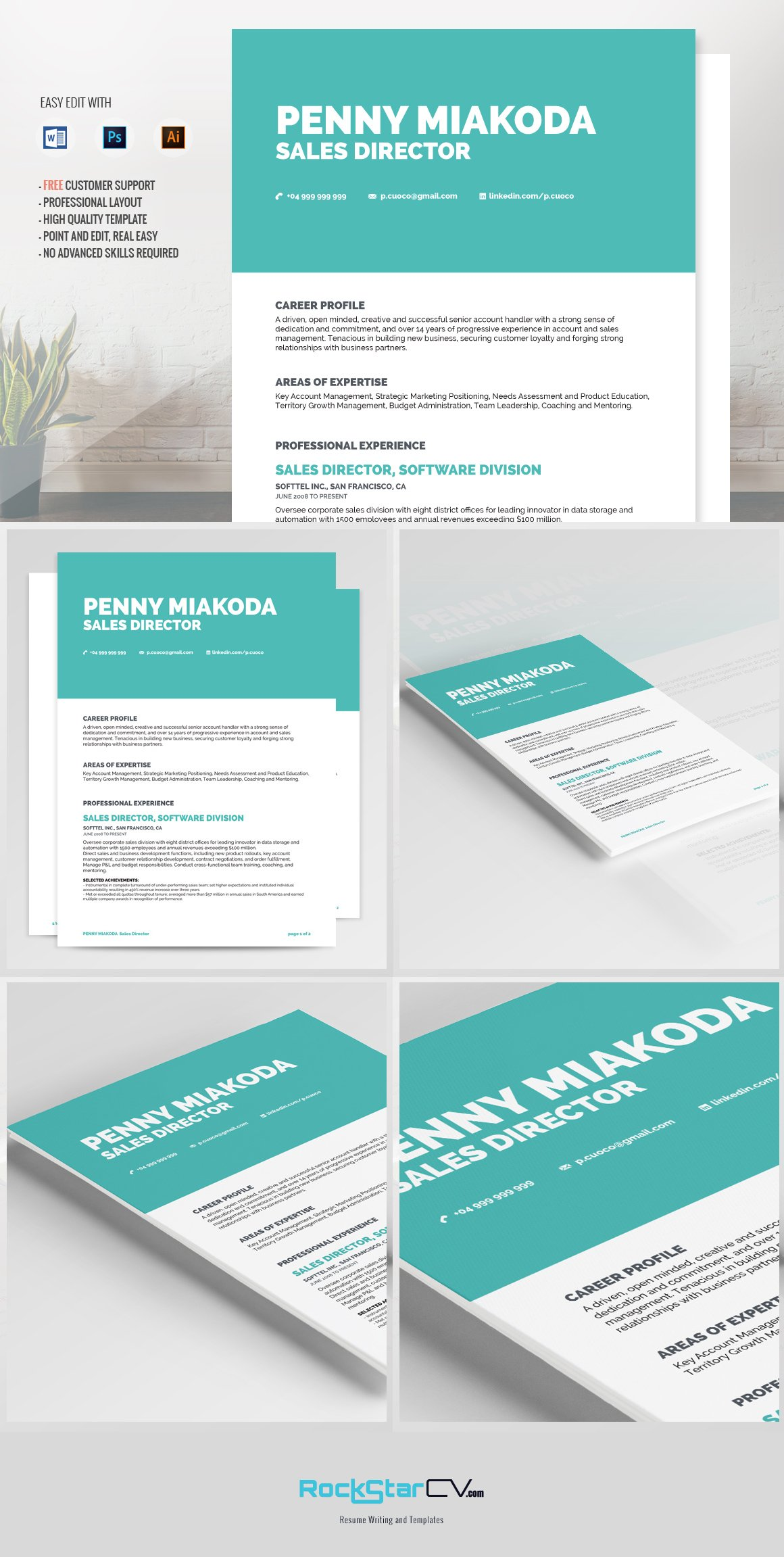 resumes and cover letters resume template miakoda resume templates creative market 24484 | miakoda resume template cm 01