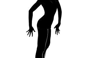 Slim silhouette gymnast