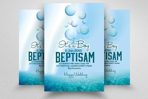 Baby Shower & Baptism Flyer Template