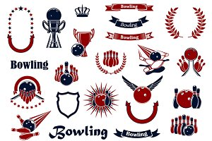 Bowling game sporting items