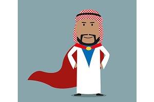 Strong arabian businessman