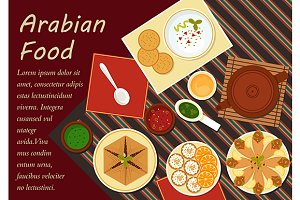 Spicy arabian cuisine food