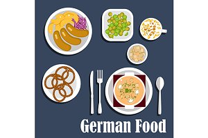 Traditional national german cuisine
