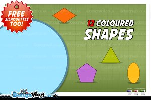 12 Colourful Shapes