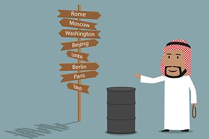 Arabian businessman sells the oil