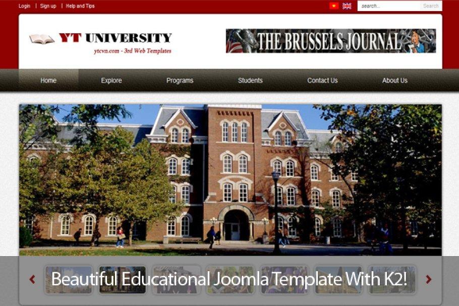 8 Joomla Templates for College Websites