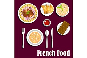 Delicious french cuisine menu