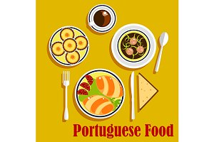 Typical portuguese national cuisine