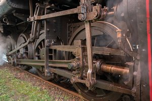 Steam train detail