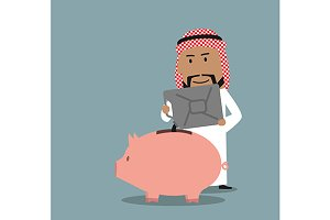 Wealthy arabian businessman