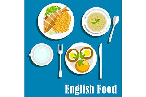 English cuisine main dishes