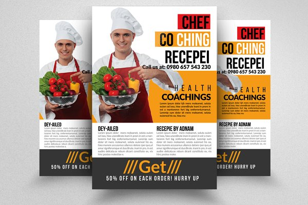 Chief Cooking Lessons Flyer