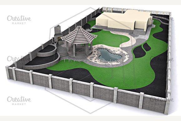 Landscaping Master Plan 3d Render Illustrations