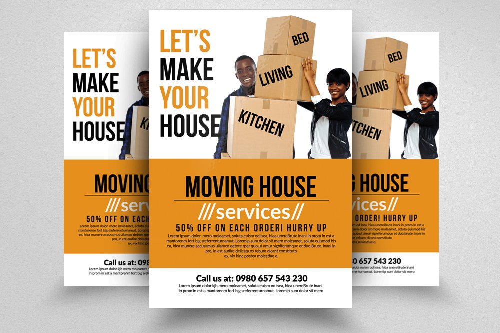 Moving House Services Flyers Flyer Templates Creative Market