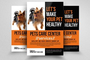 Pet Care Center Flyer Template