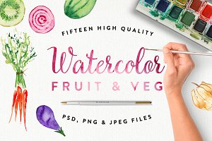 Watercolour Fruit & Veg
