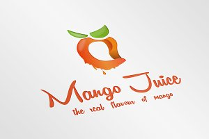 Mango Juice Logo Template