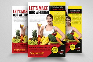 Fitness Healthy Diet Program Flyers