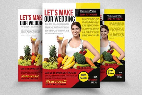 fitness healthy diet program flyers flyer templates creative market