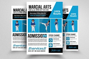 Karate Martial Arts Trainning Flyer