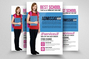 Admission Open School Flyer