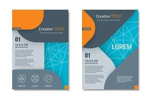 Brochure modern material design