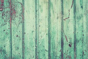 Old rustic painted turquoise texture