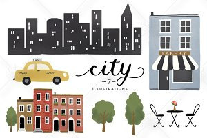 Illustrated City Graphics