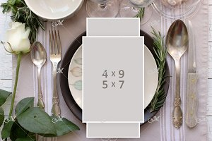 PSD table Card Mockup