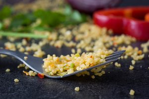 Fork with couscous
