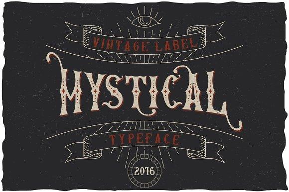 Mystic Label Typeface