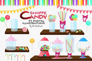 Candy Shoppe - Sweets Cliparts