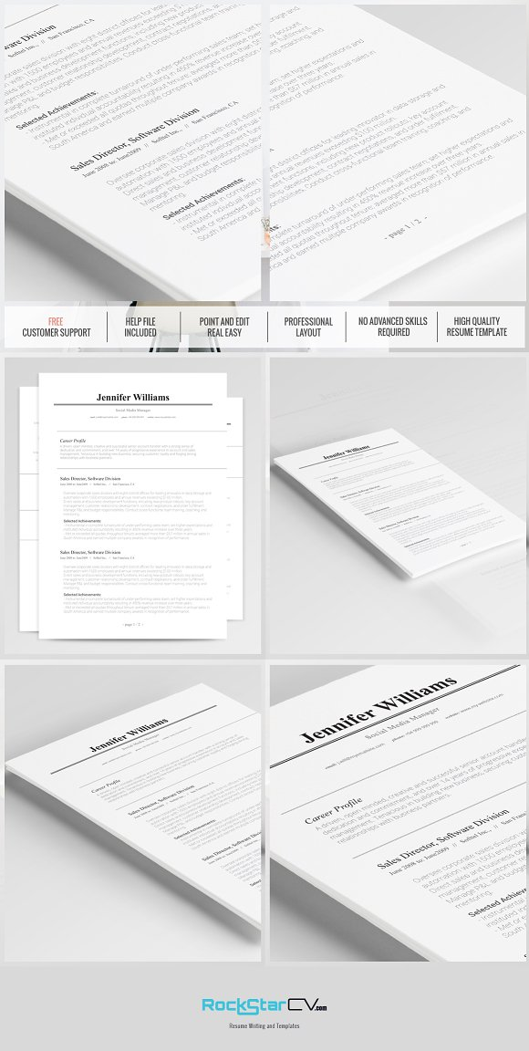 Traditional Resume Template Resume Templates Creative Market