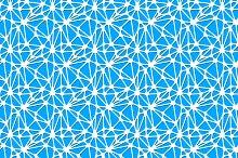 White neural network on blue