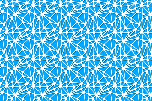 White neural network on blue