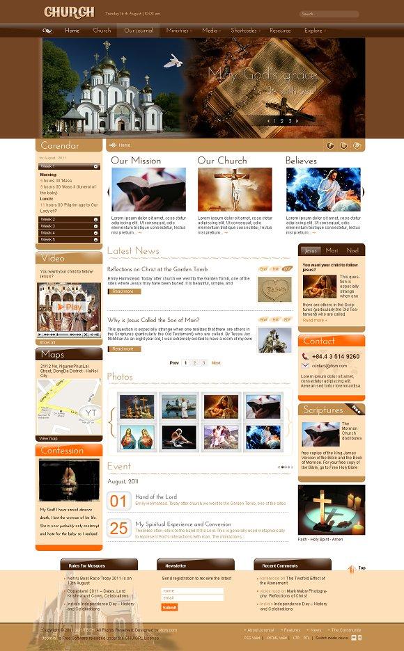 Sj church religious joomla template joomla themes creative market pronofoot35fo Gallery