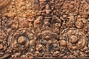 Carving in Angkor wat