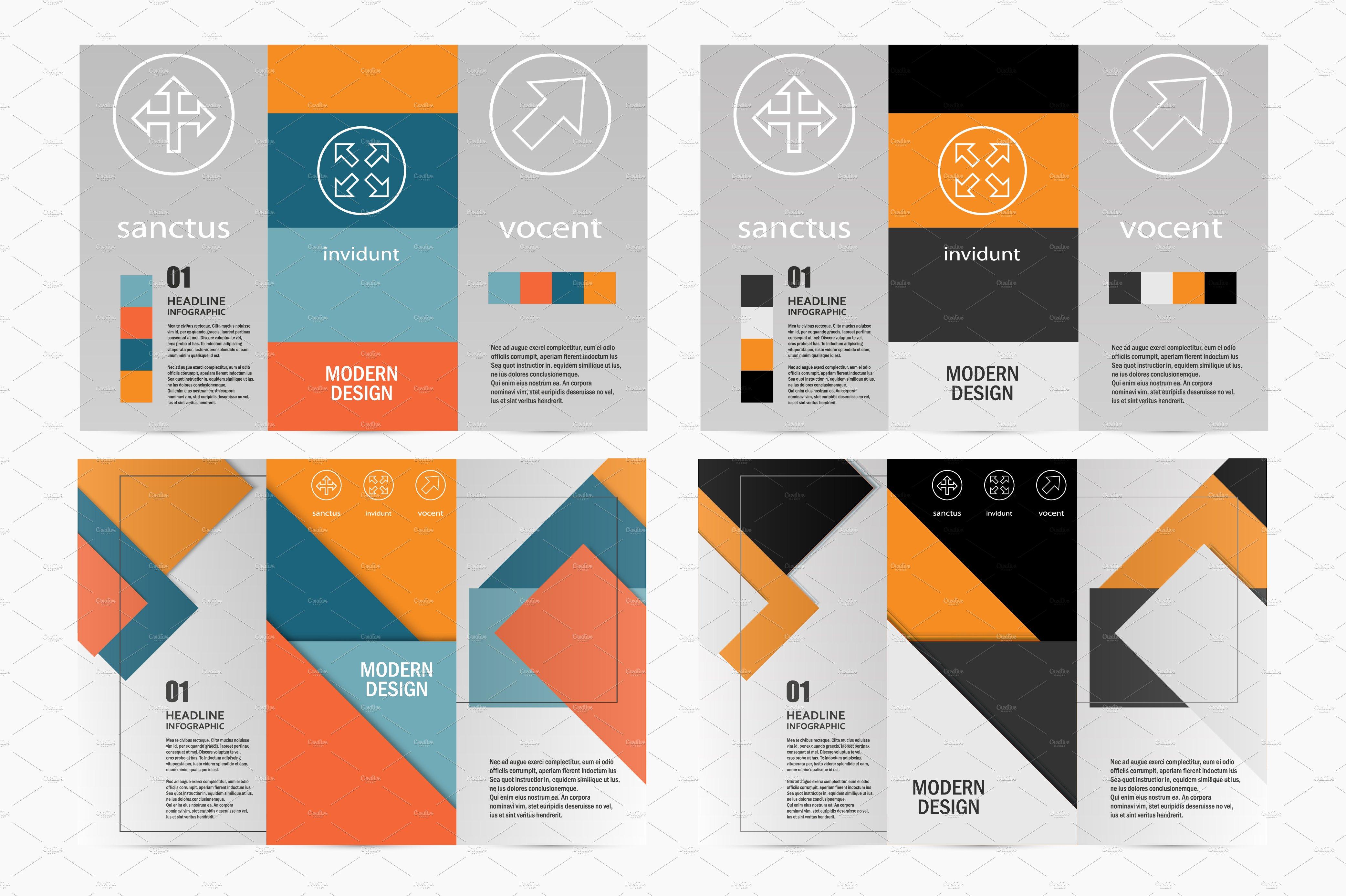 Flyer Material Design Brochure Templates Creative Market