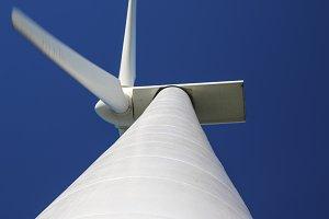 Detail of large wind turbines