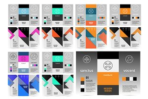 Flyer material design Vol.2
