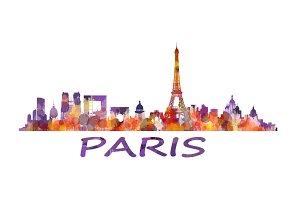 Paris Cityscape Skyline