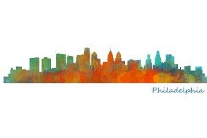 Philadelphia Cityscape Skyline