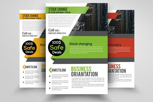 business finance company flyer flyer templates creative market