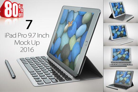 Bundle iPad Pro 9.7 Inch 2016 MockUp - Product Mockups