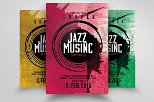 Jazz Music Party Flyer